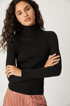 Anthropologie Parker Ribbed Turtleneck