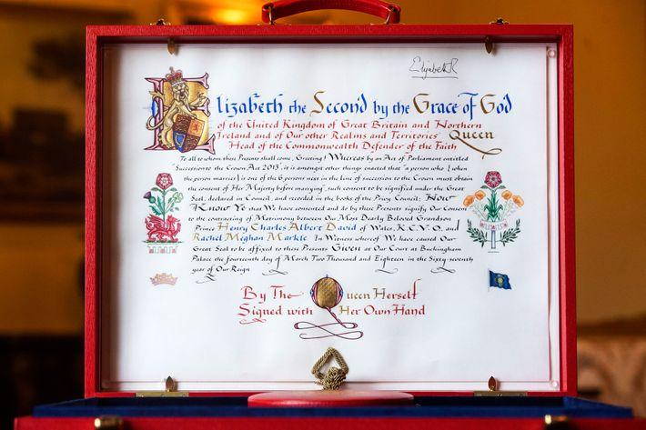 Queen Elizabeth II's consent.