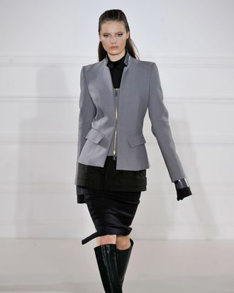 A look from Aquascutum's fall 2012 collection.
