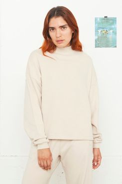Entireworld Loop Back Mockneck Sweatshirt Cream