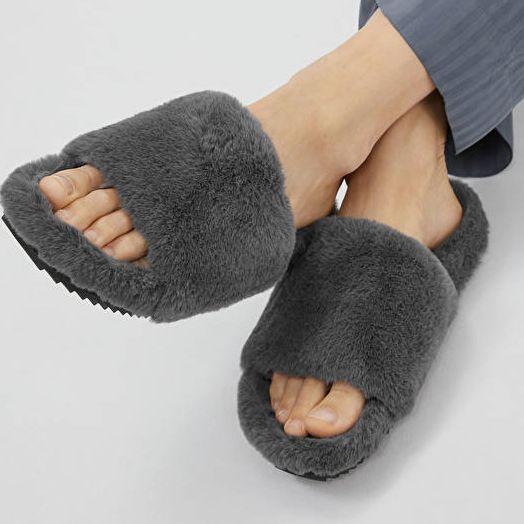 Arket Faux Fur Sandals