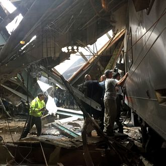 One Dead, 100 Injured After N J  Train Crashes Into Station