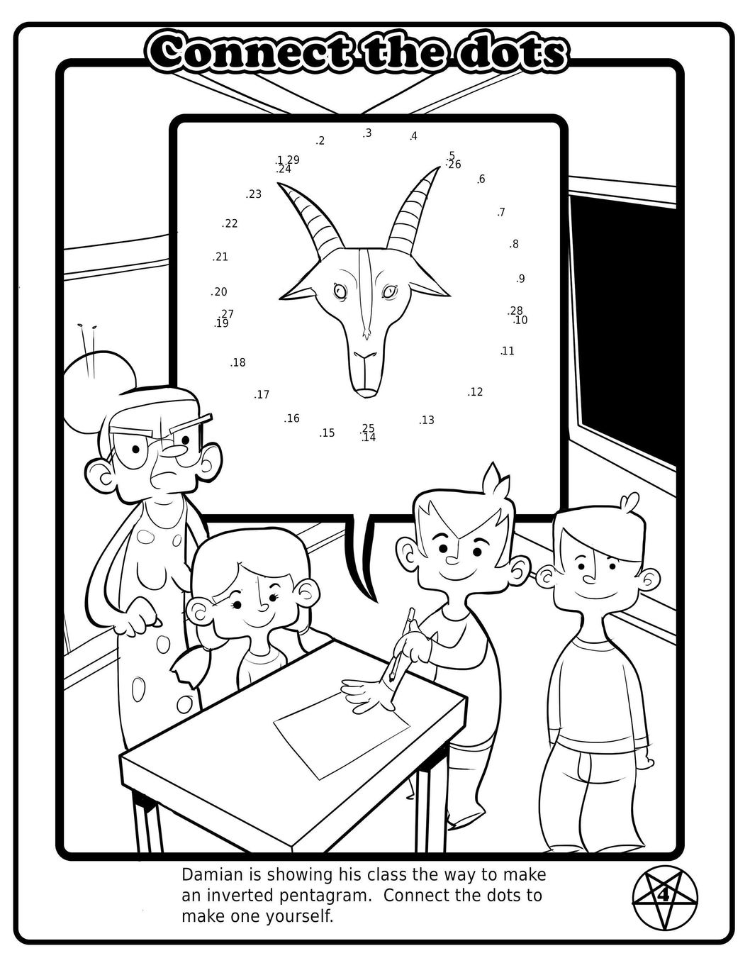 free satanic coloring pages - photo#4