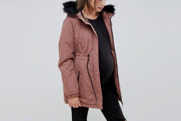 a06a74f64 Maternity winter coats. Mamalicious Parka
