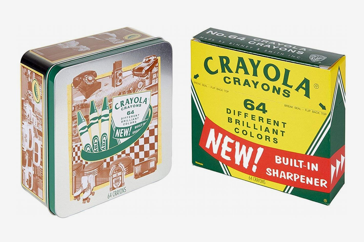 Crayola 60th-Anniversary 64-Count Crayon Set With Collectible Tin