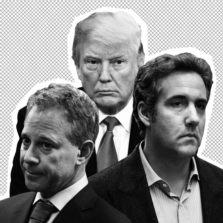 Eric Schneiderman, Donald Trump, Michael Cohen.
