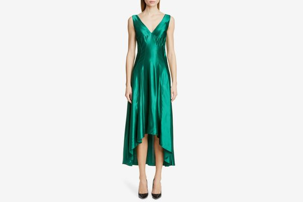 Sies Marjan High/Low Satin Dress