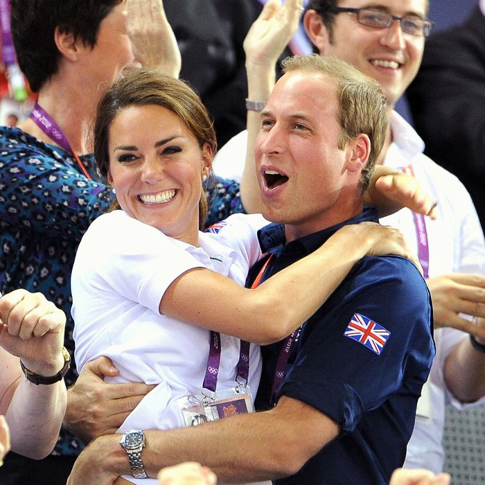 Kate Middleton at her last public appearance before giving birth.