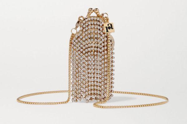 Rosantica Orfea Mini Fringed Crystal-Embellished Bag
