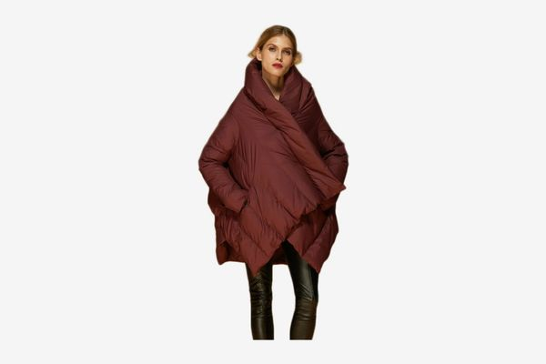 Orolay Women's Puffer Down Coat Cloak-Type Jacket