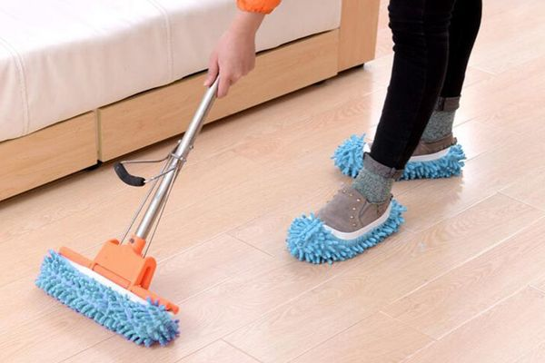Kamlif Washable Dust Mop Slippers, 3 Pairs