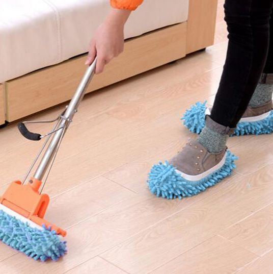 6aaff05b714 I Sweep My Floors Just by Shuffling Around in These Mop Slippers