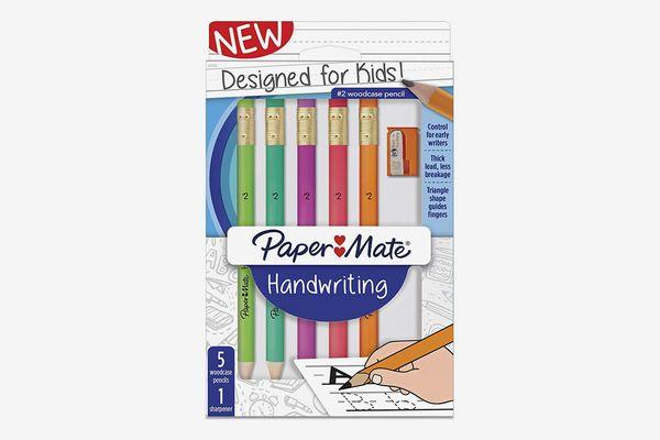 Paper Mate Handwriting Triangular Wood case Pencil Set with Sharpener