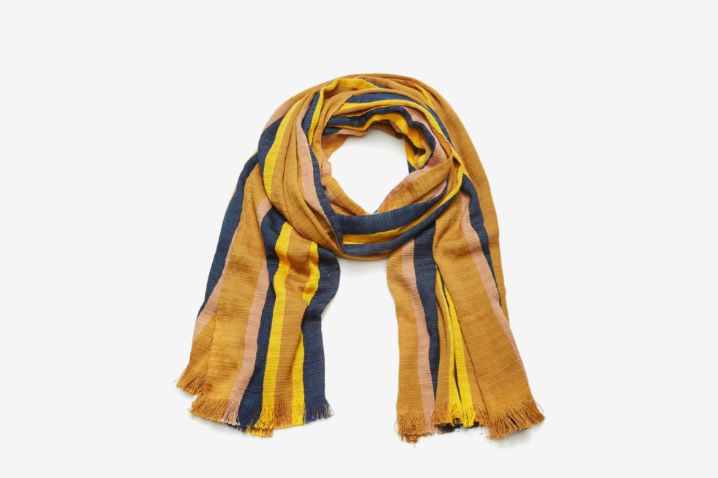 Isabel Marant Honolulu Striped Cotton Scarf