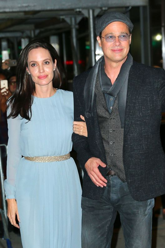 Brad Pitt and Angelina Jolie Coordinated Outfits -- The Cut Angelina Jolie And Brad Pitt