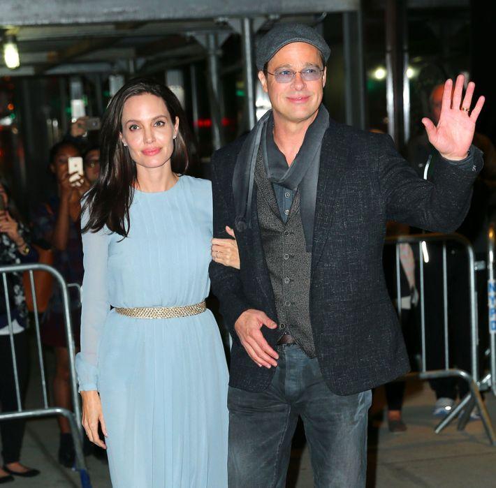 Angelina Jolie and Brad Pitt.