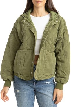 BLANKNYC Quilted Hooded Jacket