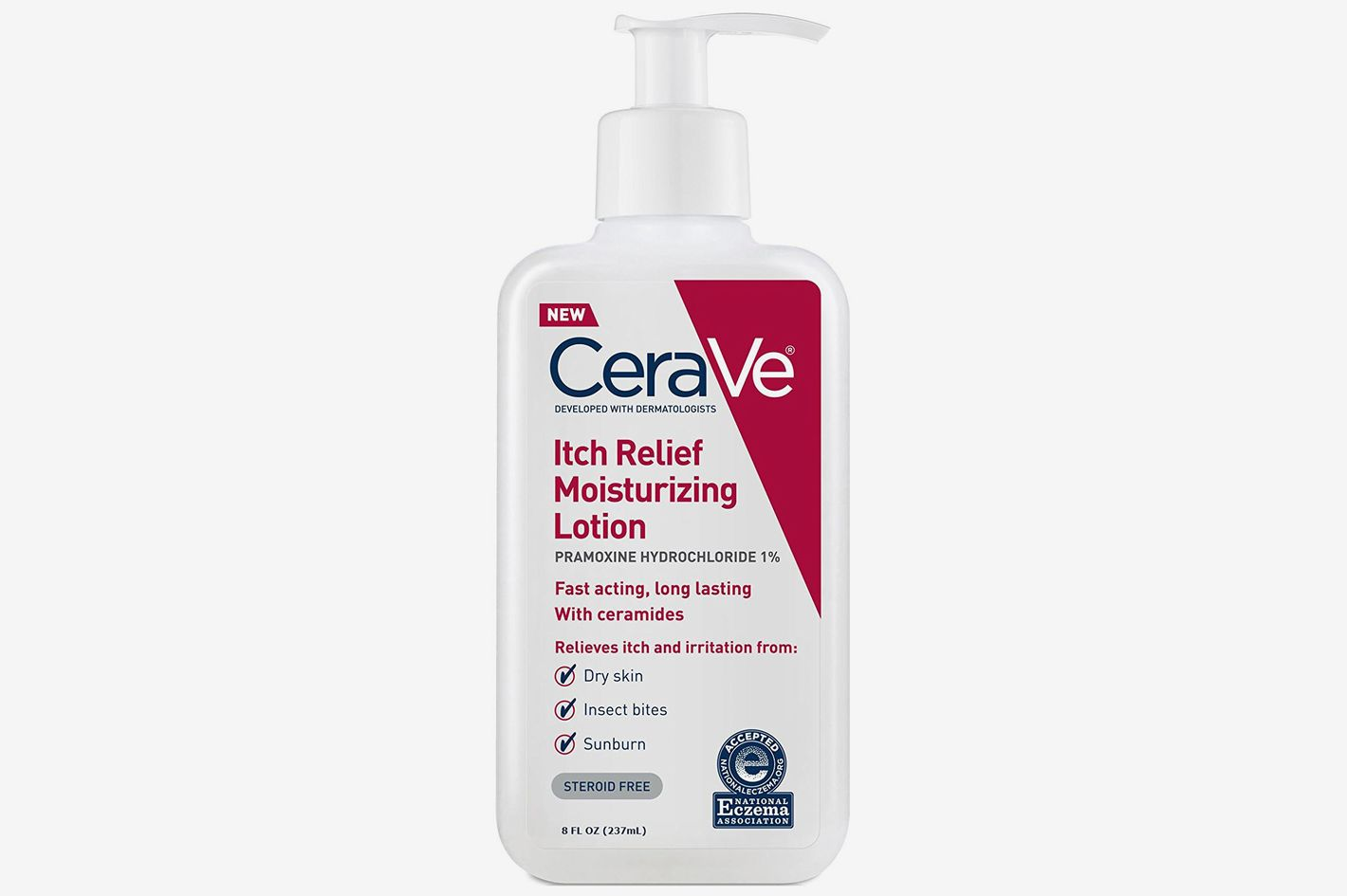 CeraVe Itch Relief Moisturizing Lotion 8 oz With Pramoxine Hydrochloride and Ceramides