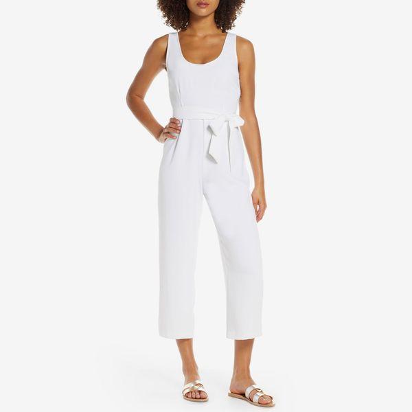 white bb dakota jumpsuit - strategist nordstrom anniversary sale
