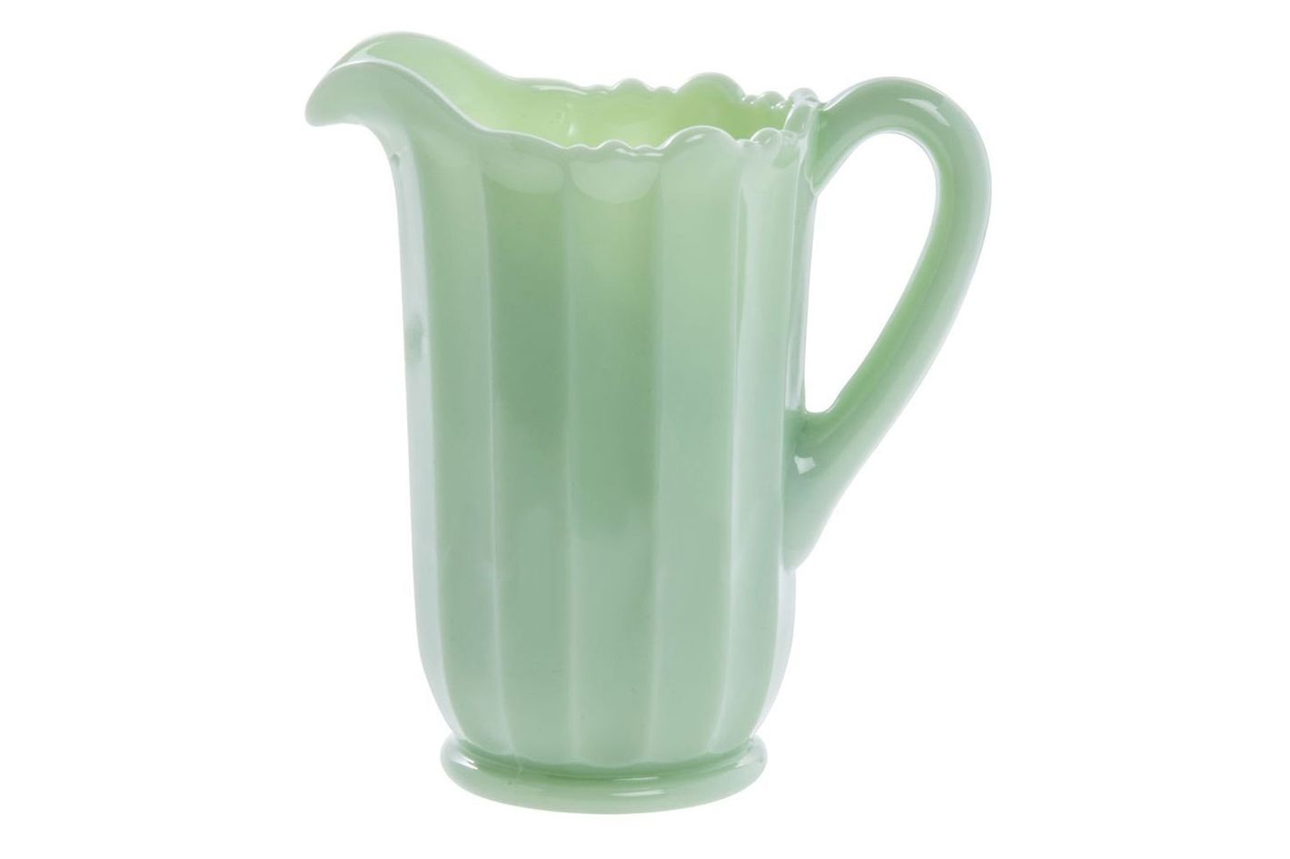 Mosser Glass Jadeite Pitcher