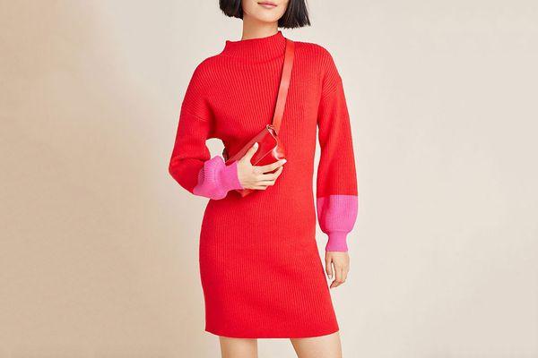 Alder Mock Neck Sweater Dress