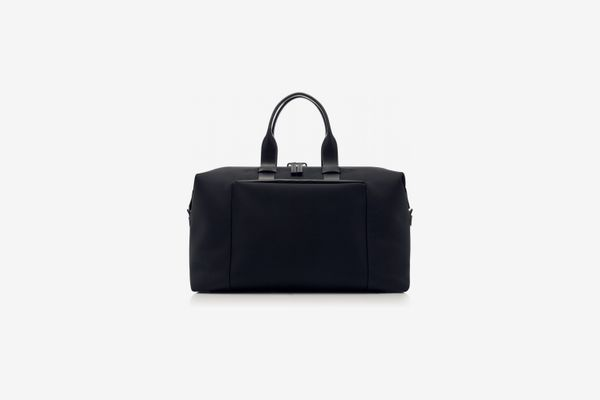 Troubadour Fabric and Leather Weekender Bag, Navy