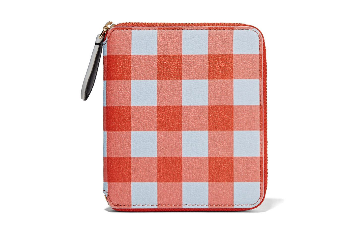 Diane von Furstenberg Small Gingham Textured-Leather Wallet