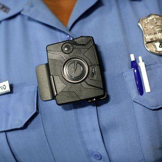 WASHINGTON, DC - SEPTEMBER 24: Washington DC Metropolitan Police Officer Debra Domino wears one of the new