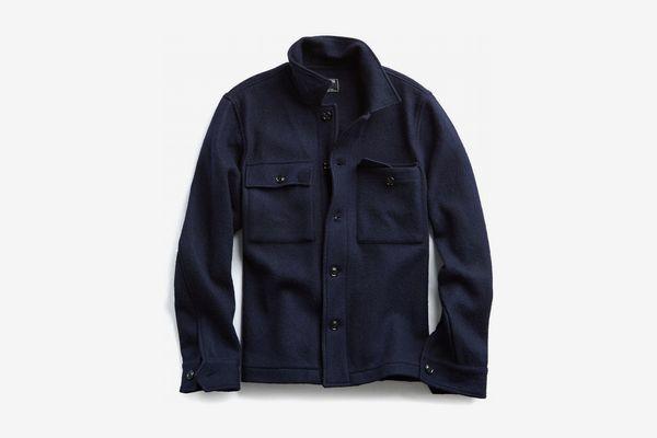 Todd Snyder Italian Boucle Knit Shirt Jacket