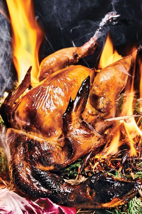 Le Turtle's roast Sasso chicken.