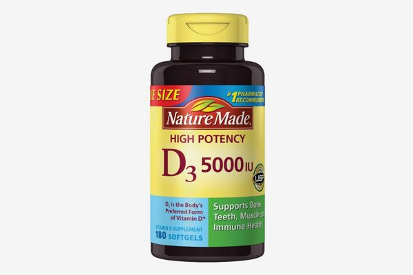 Nature Made Vitamin D3 5000 IU Ultra Strength Softgels, 90 Count