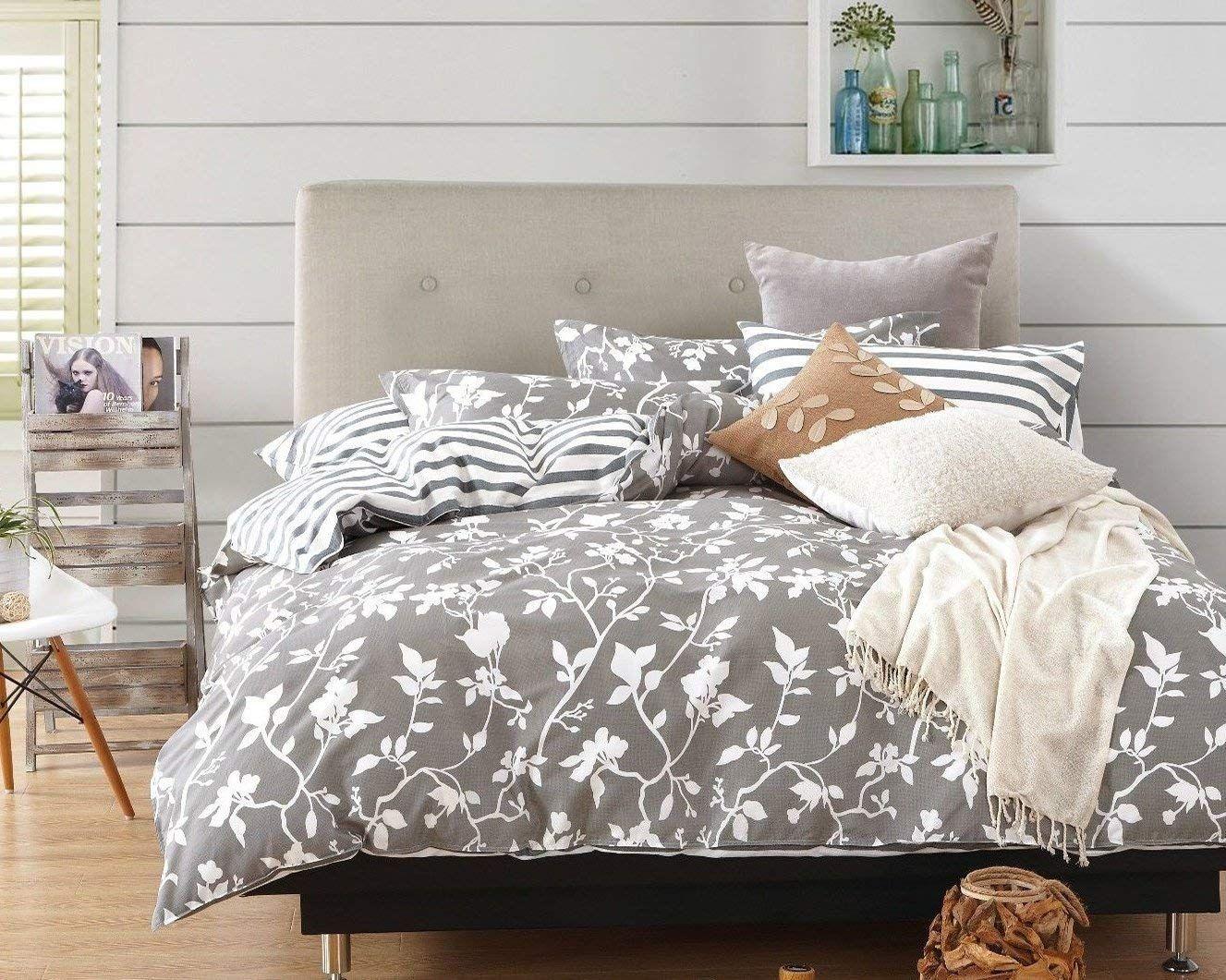 Swanson Beddings Leafy Vines 3-Piece 100% Cotton Bedding Set