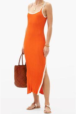 Solid and Striped Kimberley Side Slit Rib Knit Dress