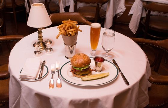 The Polo Bar burger.