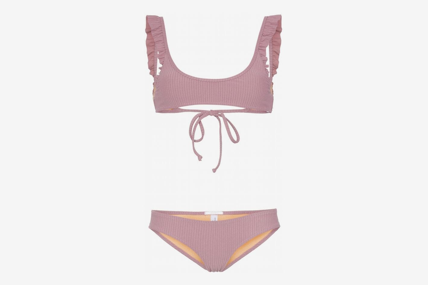 Made by Dawn Petal Frill Detail Bikini Set
