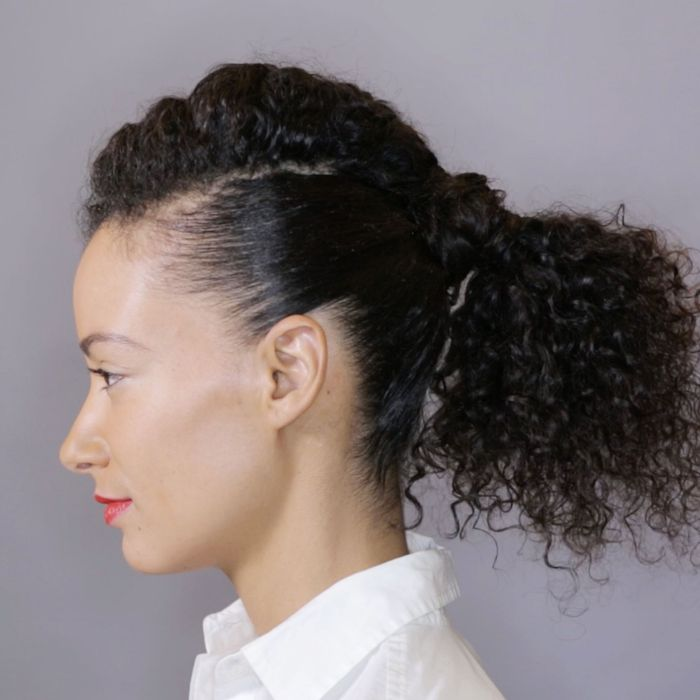How To Master An Easy Updo For Curly Hair