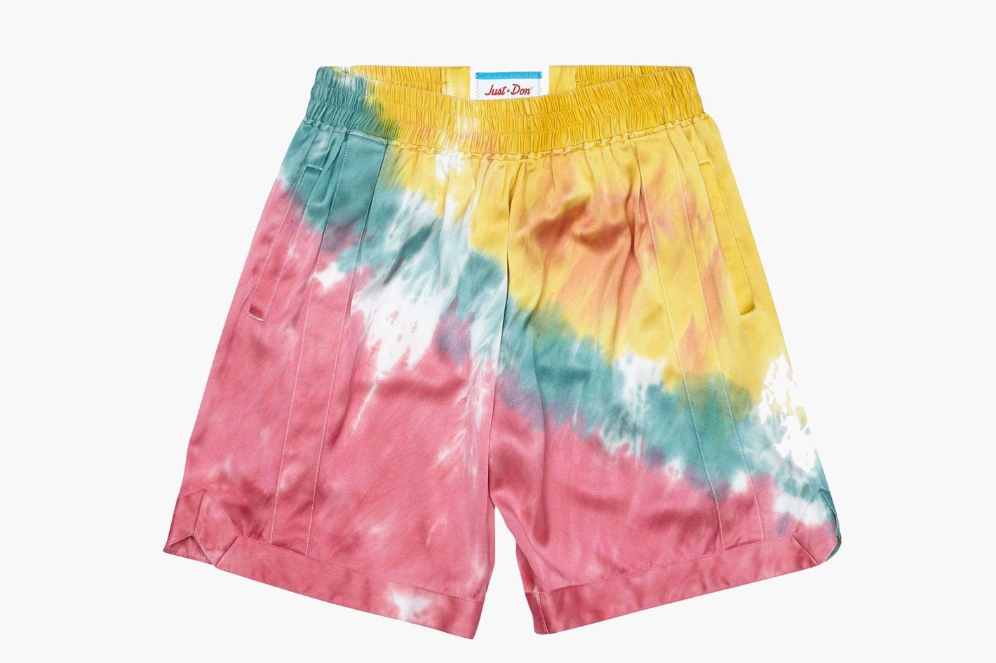 Just Don Tie-Dye Silk-Satin Basketball Shorts