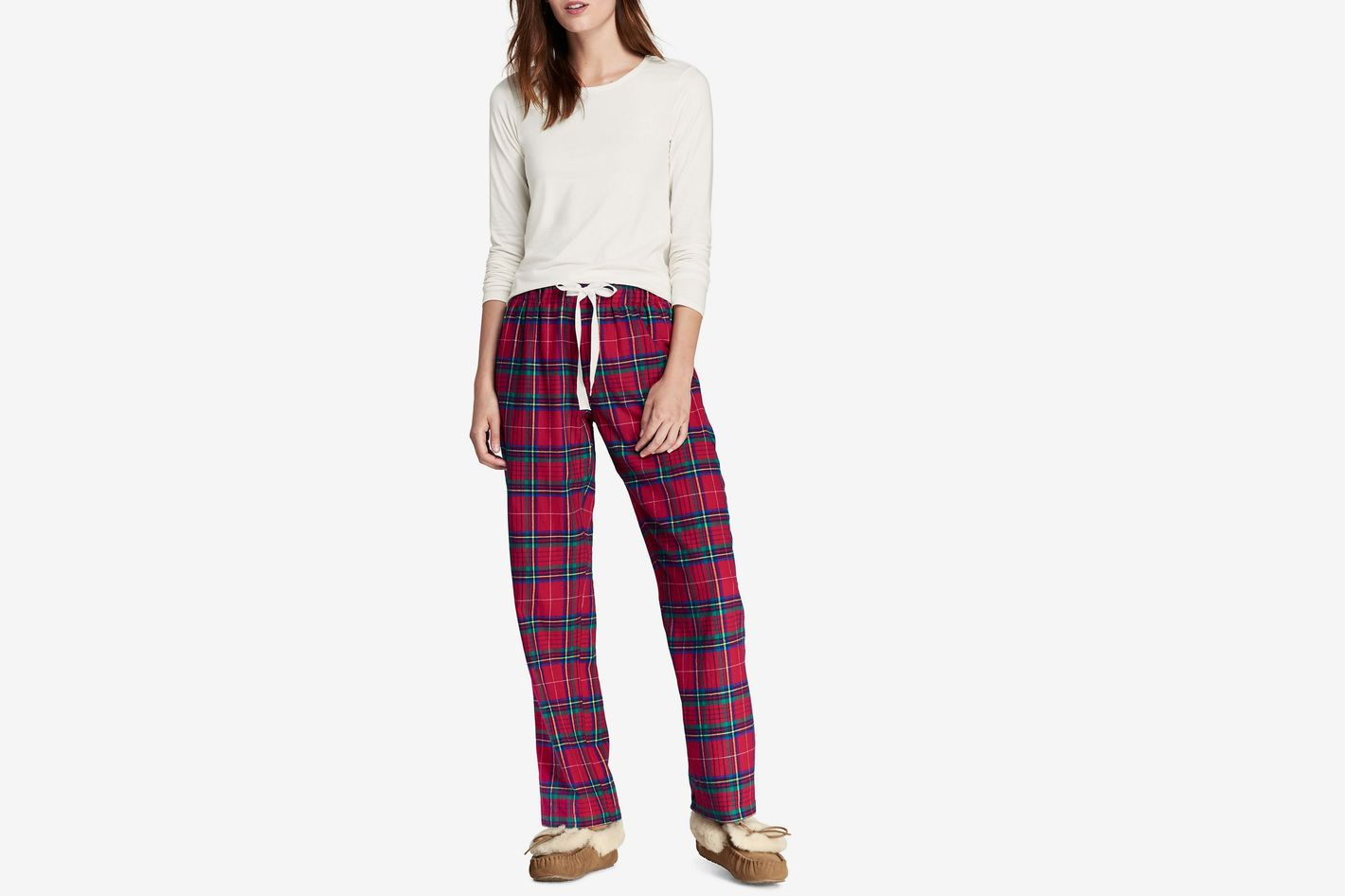 Lands' End Women's Knit Flannel Sleep Set