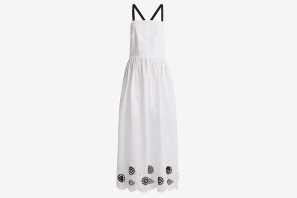 Rachel Comey Borough Broderie-Anglaise Cotton-Blend Dress