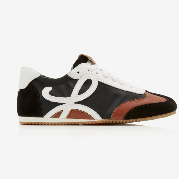 Loewe Shell, Leather, and Suede Sneakers