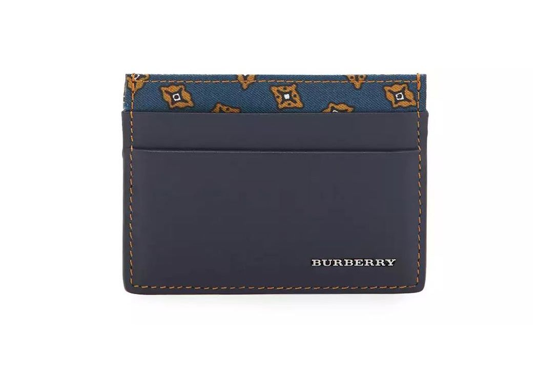 Burberry smooth leather card case
