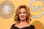 Jessica Lange holds the award for best actress in a drama series for her role in 'American Horror Story' in the press room at the 18th Annual Screen Actors Guild Awards at the Shrine Auditorium in Los Angeles, California on January 29, 2012. AFP PHOTO / FREDERIC J. BROWN (Photo credit should read FREDERIC J. BROWN/AFP/Getty Images)