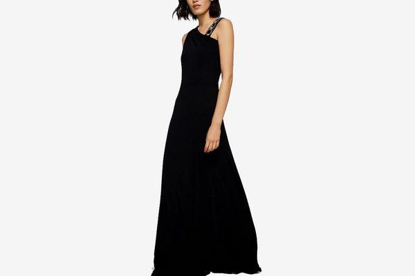 Appliqué Asymmetric Dress