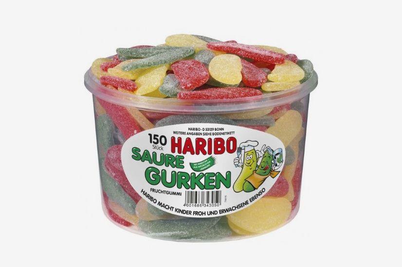 Haribo Saure Gurken Sour Pickles Tub
