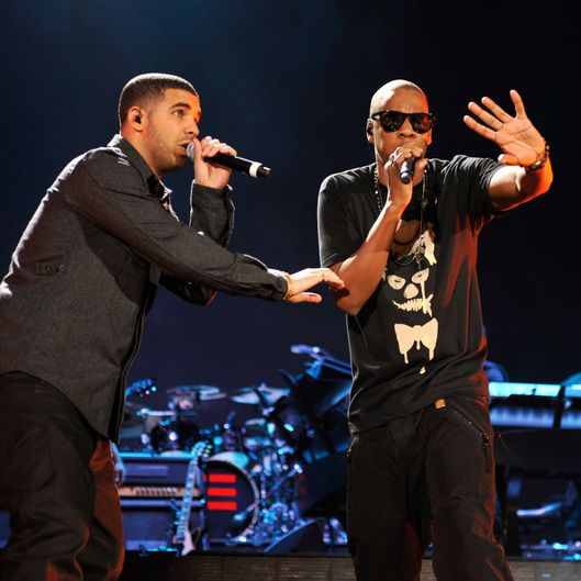 Jay-Z  and Drake perform at Yankee Stadium on September 15, 2010 in New York City.