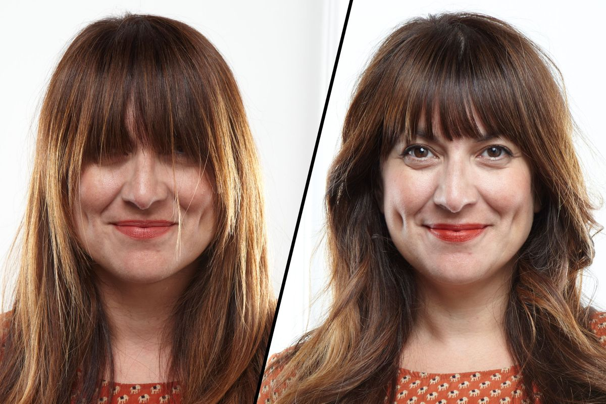How to Trim Bangs at Home Without Screwing UpZooey Deschanel Bangs Cut