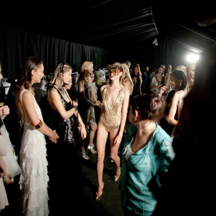 Models at Tel Aviv Fashion Week.