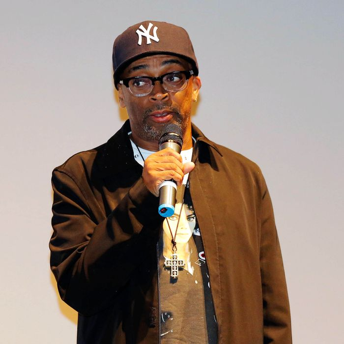 Director Spike Lee speaks at the