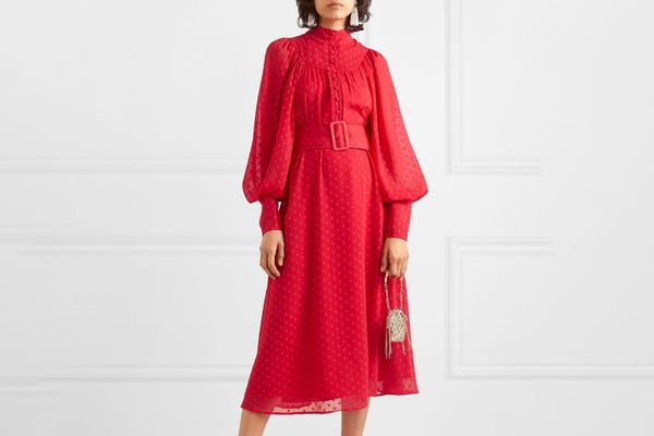 Rotate Birger Christensen Belted Midi Dress
