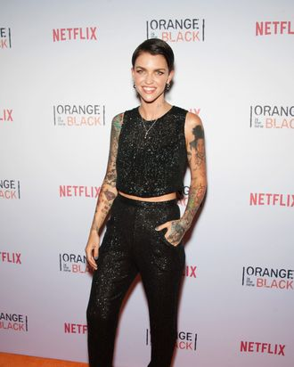 bde1054c0 Orange Is the New Black's Ruby Rose on Being the New Girl on Set, and  Having a Tattoo of Her Co-star on Her Back